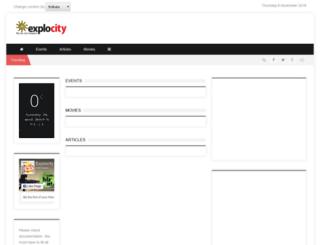 kolkata.explocity.com screenshot