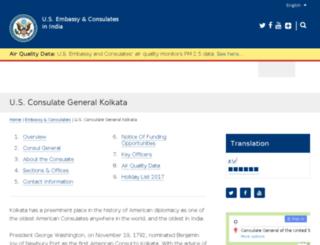 kolkata.usconsulate.gov screenshot