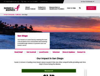 komensandiego.org screenshot