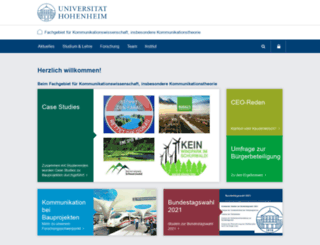 komm.uni-hohenheim.de screenshot