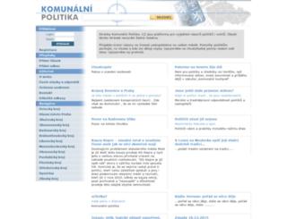 komunalnipolitika.cz screenshot