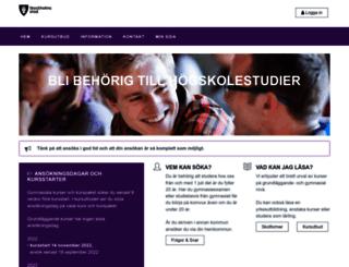 komvux.stockholm.se screenshot