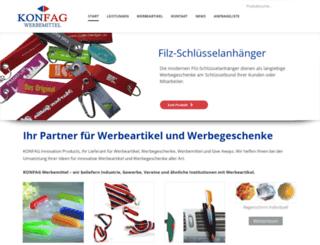 konfag-werbemittel.de screenshot