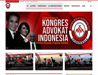 kongres-advokat-indonesia.org screenshot