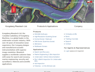 kongsberg-mesotech.com screenshot