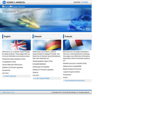 konicaminoltasupport.com screenshot