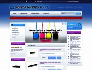 konicaminoltatoner.co.uk screenshot