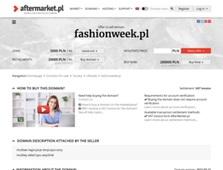konkurs.fashionweek.pl screenshot