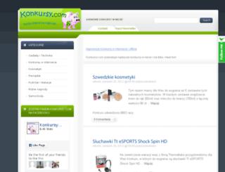 konkursy.com screenshot