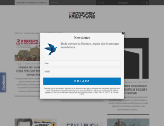 konkursykreatywne.pl screenshot