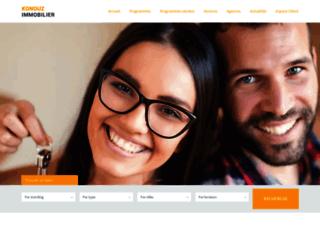 konouzimmobilier.com screenshot