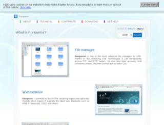 konqueror.kde.org screenshot