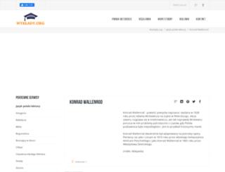 konrad-wallenrod.wyklady.org screenshot