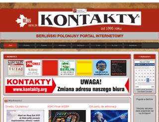 kontakty.org screenshot