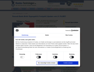 konto-testsieger.de screenshot