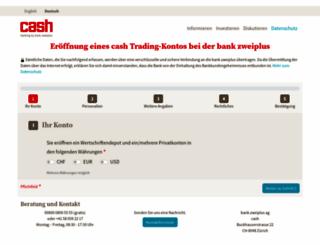 kontoeroeffnung.cash.ch screenshot