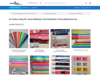 kontrollband-shop24.de screenshot