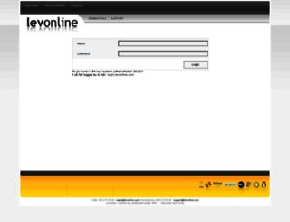 kontrollpanel.levonline.com screenshot
