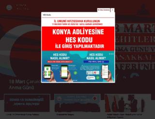 konya.adalet.gov.tr screenshot