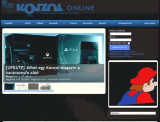 konzol.eu screenshot