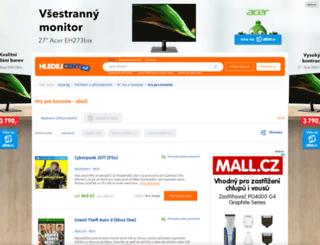 konzole-hry.hledejceny.cz screenshot