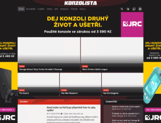 konzolista.tiscali.cz screenshot