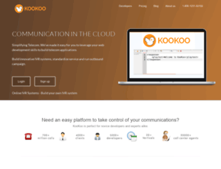 kookoo.ozonetel.com screenshot