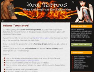 kooltattoos.com screenshot