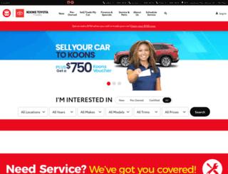koonstoyotatysonscorner.com screenshot