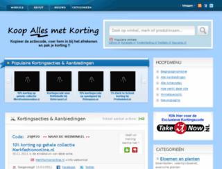 koopallesmetkorting.nl screenshot