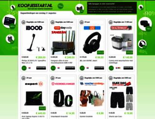 koopjesstart.nl screenshot