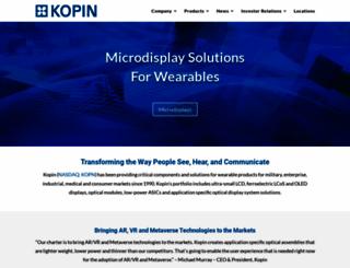 kopin.com screenshot