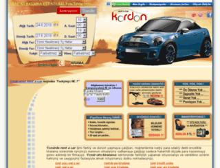 kordonrentacar.com screenshot