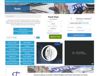 korea.embassyhomepage.com screenshot