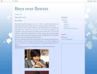 korean-boys-over-flowers.blogspot.com screenshot