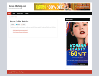 korean-clothing.com screenshot