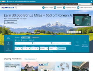 koreanair.com screenshot