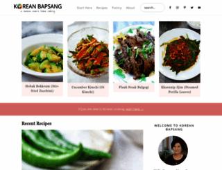 koreanbapsang.com screenshot
