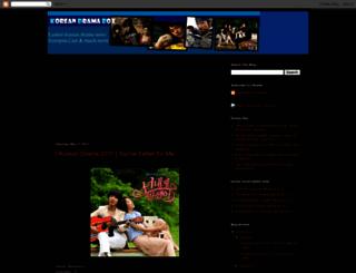 koreanbox.blogspot.com screenshot