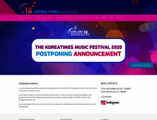 koreanmusicfestival.com screenshot