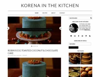 korenainthekitchen.com screenshot