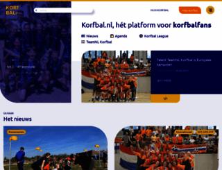 korfbal.nl screenshot