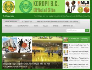 koropibc.gr screenshot