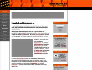 korrekturen.de screenshot