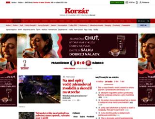 korzar.sme.sk screenshot