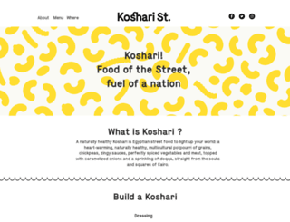 kosharistreet.com screenshot
