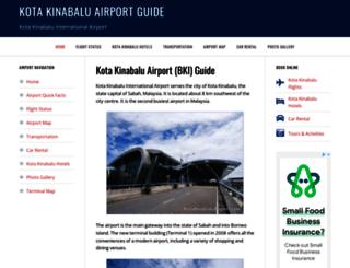 kotakinabaluairport.com screenshot