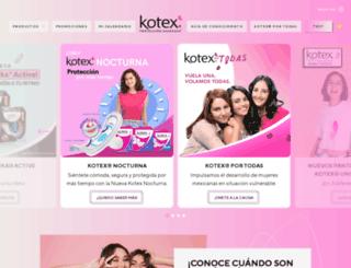 kotex.com.mx screenshot