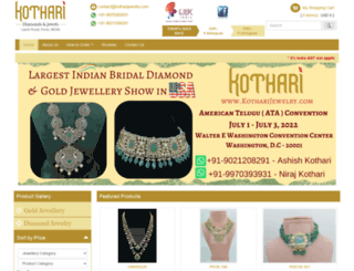kotharijewelry.com screenshot