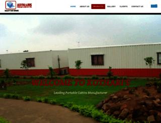 kothariportablecabins.com screenshot